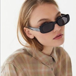90s Grunge Slim Rectangular Sunglasses